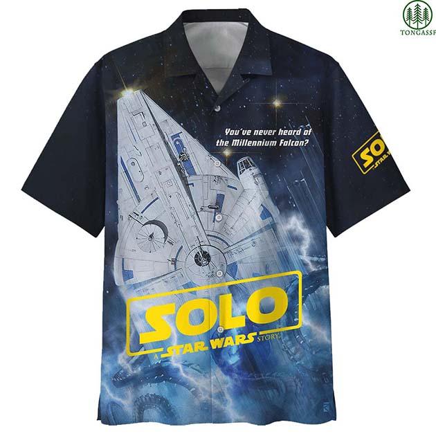 Solo Star wars Millennium falcon Hawaiian Shirt Summer Shirt