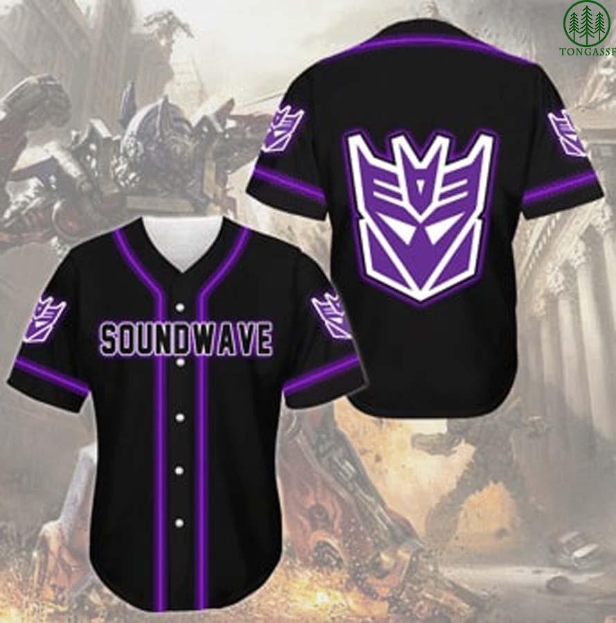 Transformers Soudwave baseball Jersey for fan