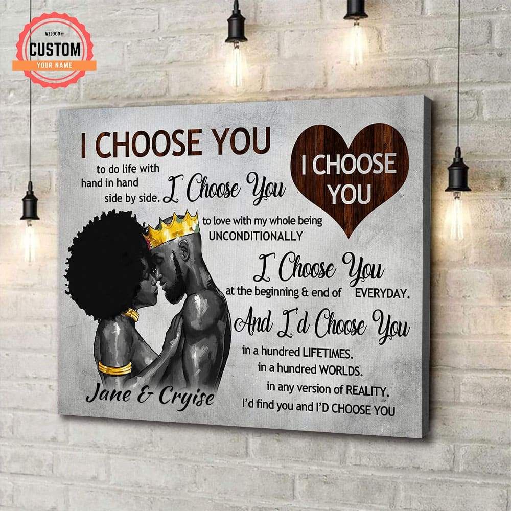 To Lover I Choose You Custom Name Canvas
