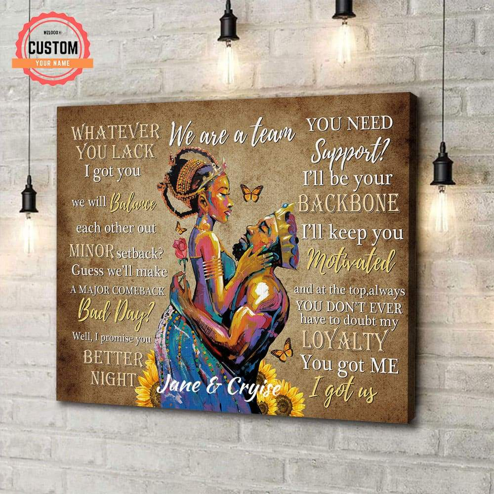 To My Lover I Will Be Your Backbone Custom Name Canvas