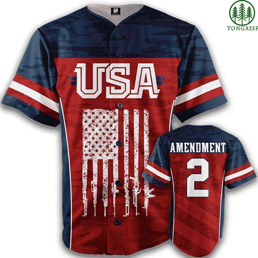 American Liberty 2nd Amendment baseball jersey shirt