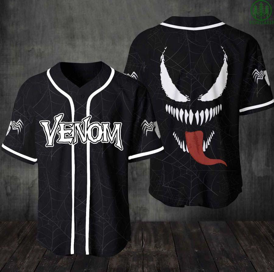 Venom Marvel baseball Jersey for fan