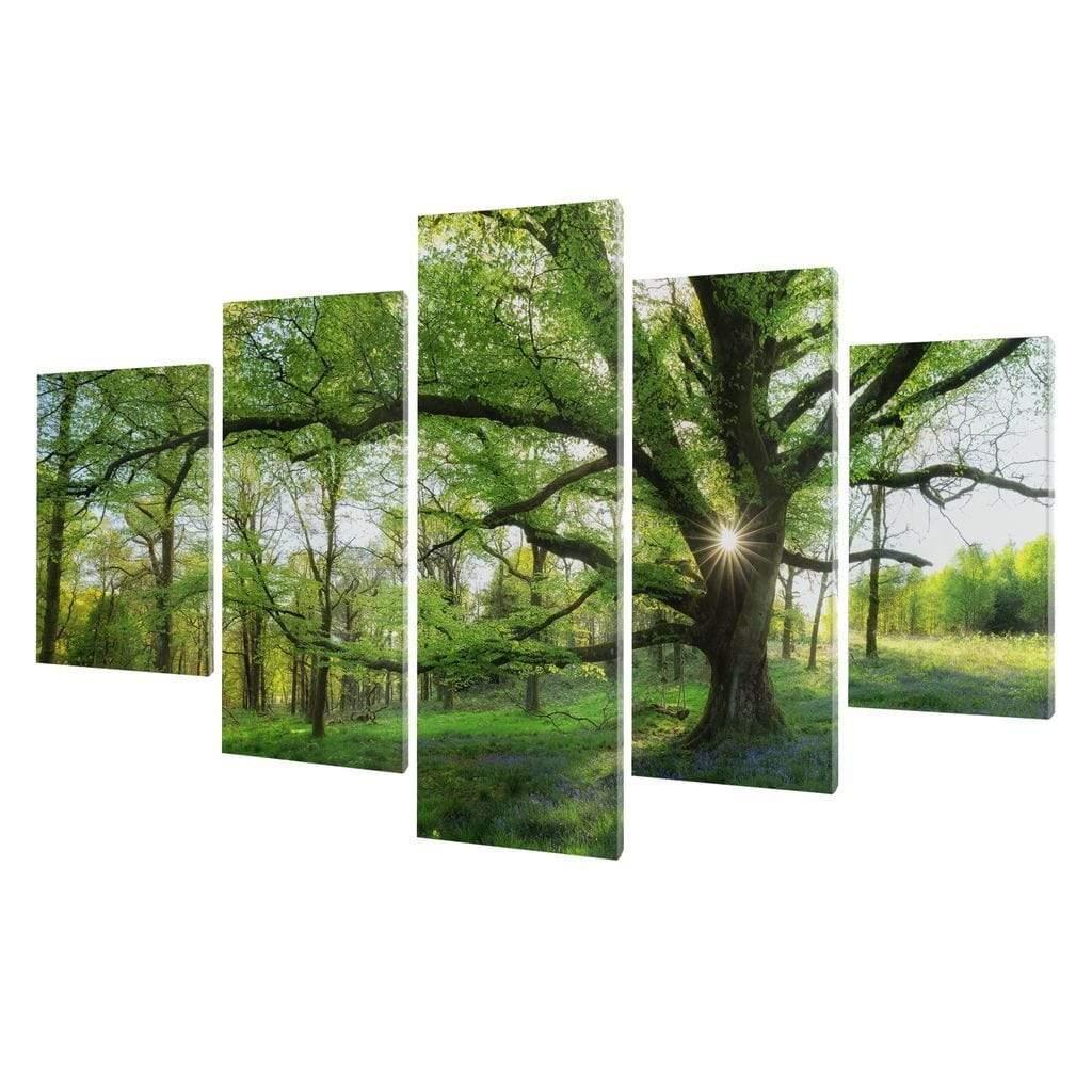 5P Canvas Master Tree 5 panel wall art canvas