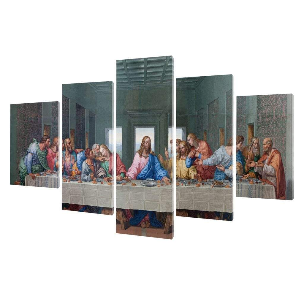 5P Canvas The Last Supper God 5 panel wall art canvas