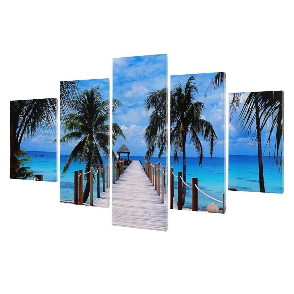 5P Canvas Perfect Vacation 5 panel wall art canvas
