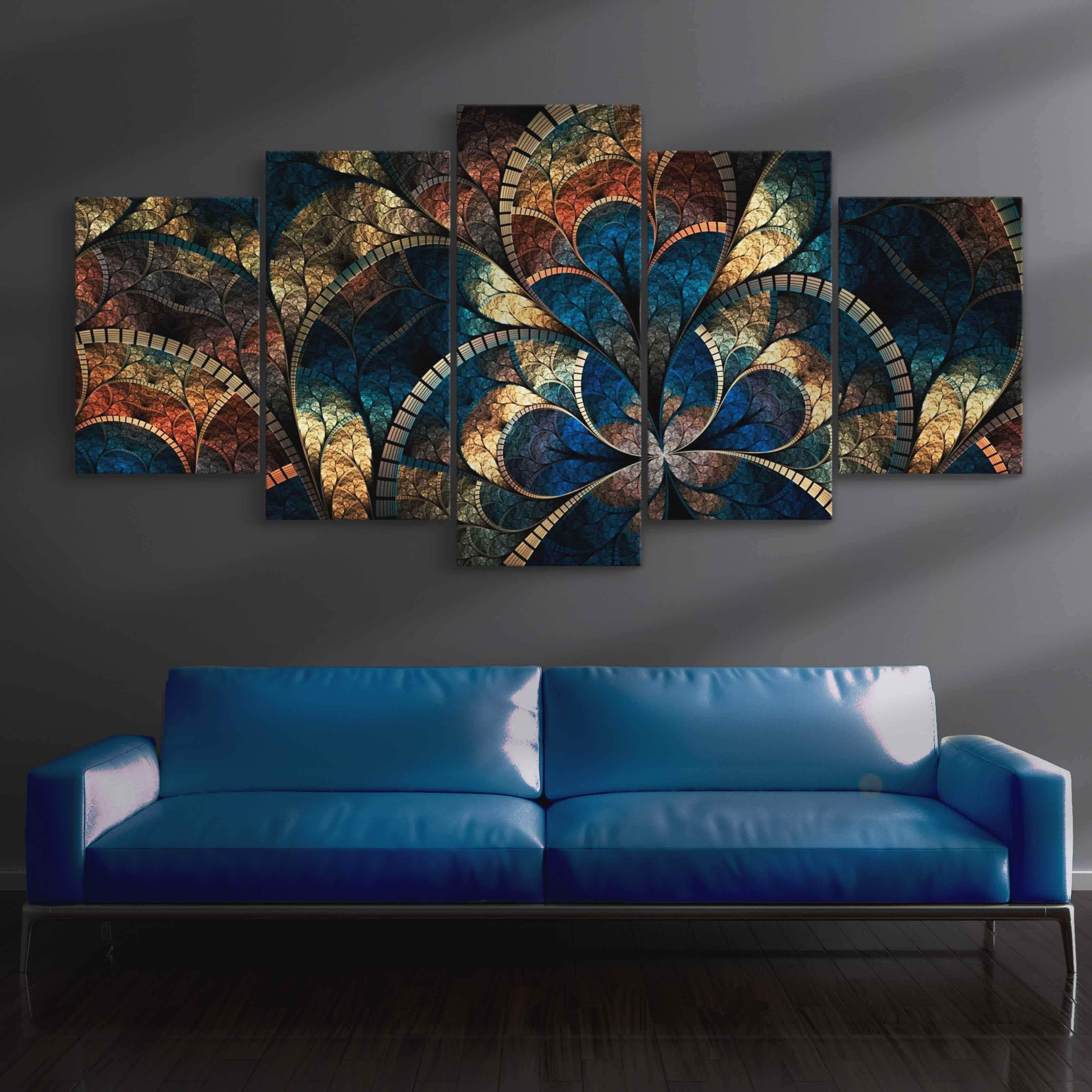 5P Canvas Abstract Art Canvas 5 panel wall art canvas