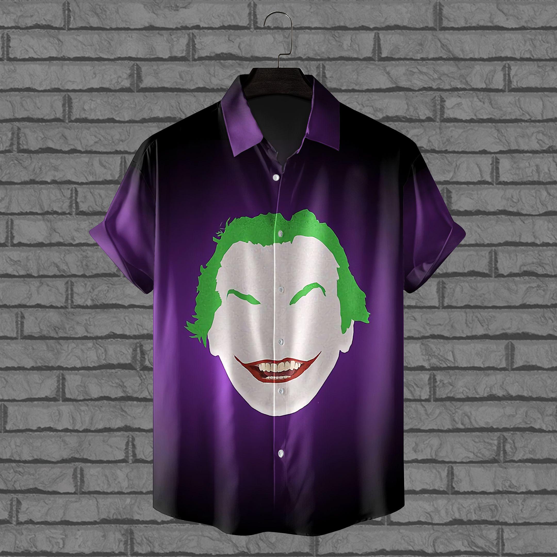 Batman Joker cartoon face Hawaiian Shirt Batman Series