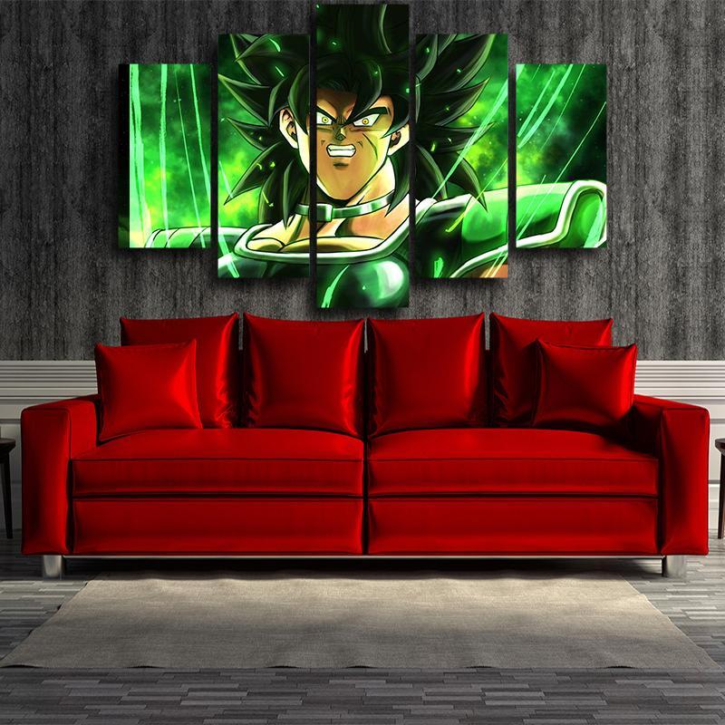 5P Canvas Dragon Ball The Legendary Broly Green 5 panel Canvas Print