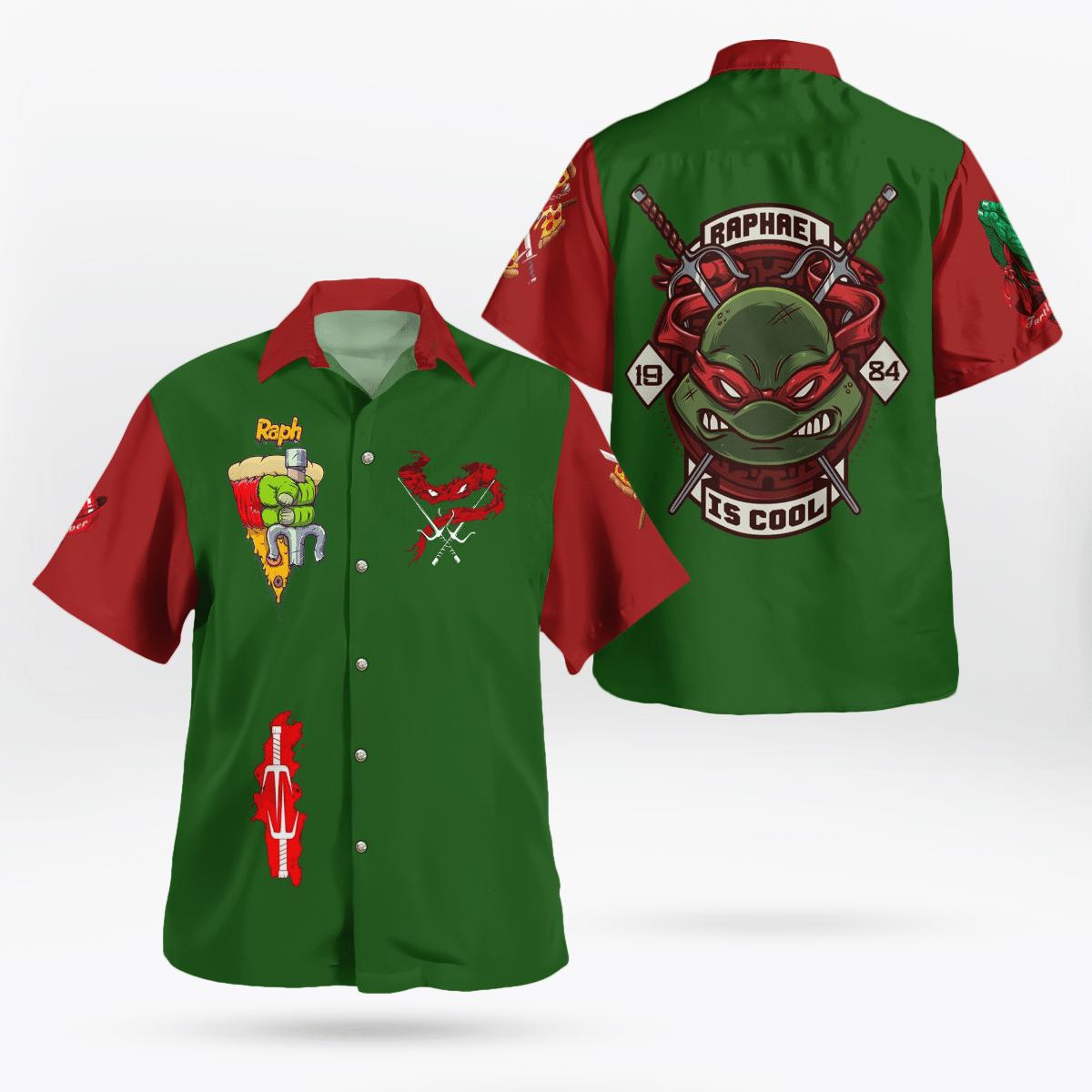 Legend Ninja Turtles Raphael Hawaiian Shirt Summer Shirt