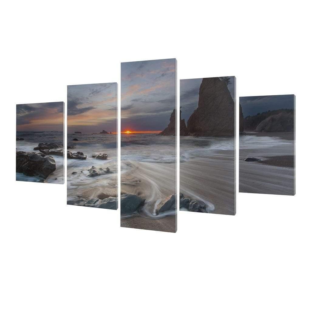 5P Canvas Beautiful Sea Wave 5 panel wall art canvas