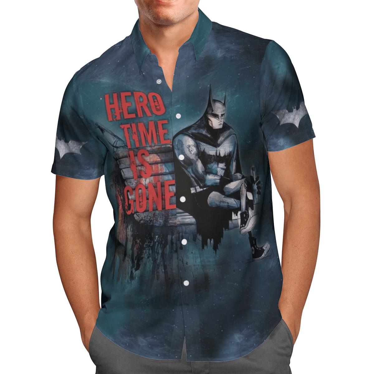 Batman The Dark Knight Time is Gone Hawaiian Shirt Button Up Shirt