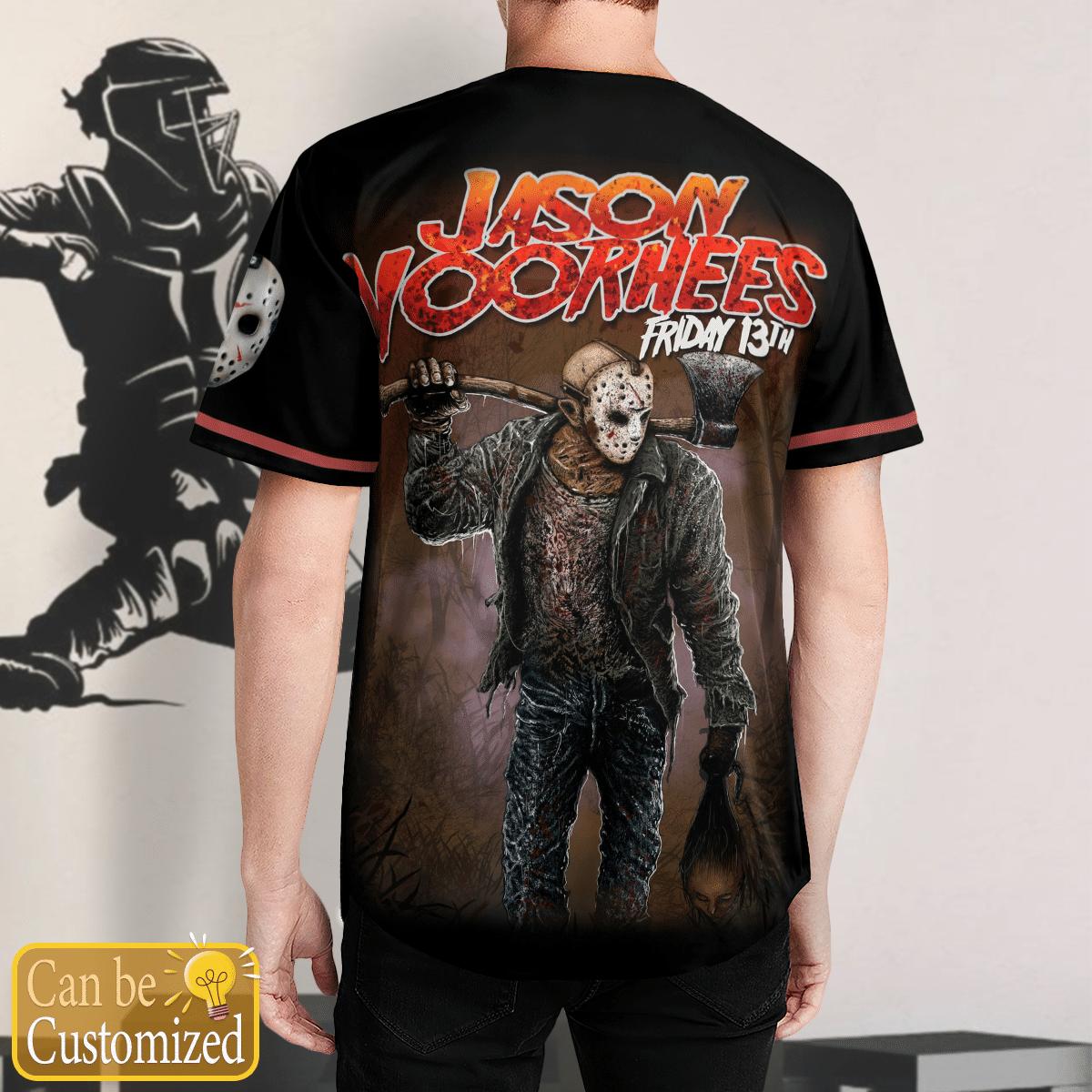 Customized Jason Voorhees killer baseball Jersey Shirt