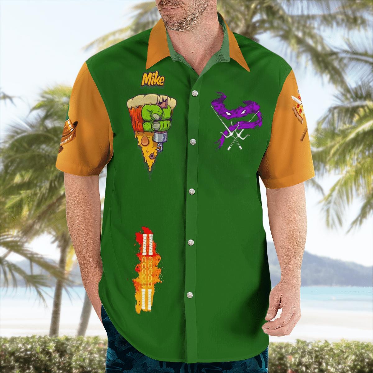 Legend Ninja Turtles Michelangelo Hawaiian Shirt Summer Shirt