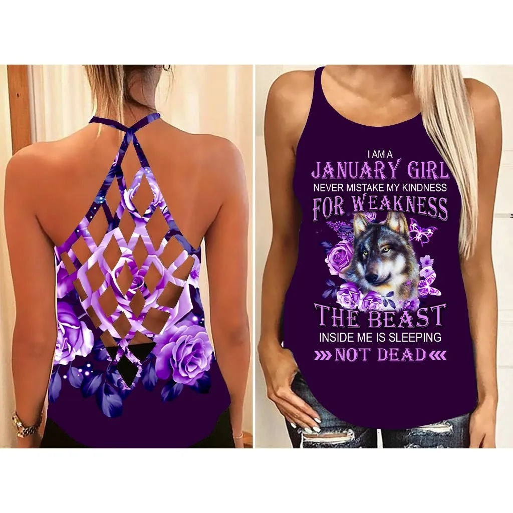 Personalized Name I Am A January Girl 3D All Over Print Shirt