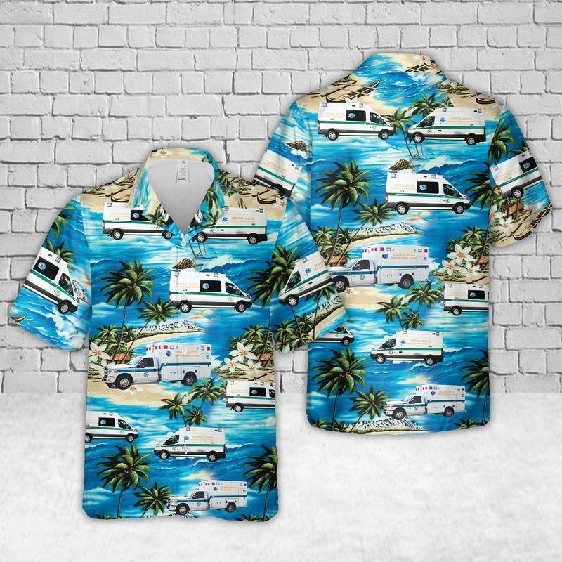 Pennsylvania Central Bucks EMS Ambulance Hawaiian Shirt