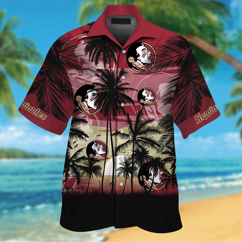 NCAA Florida State Seminoles Summer Hawaiian Shirt Men Women Shorts
