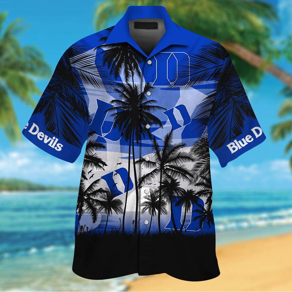NCAA Duke Blue Devils Summer Hawaiian Shirt Men Women Shorts