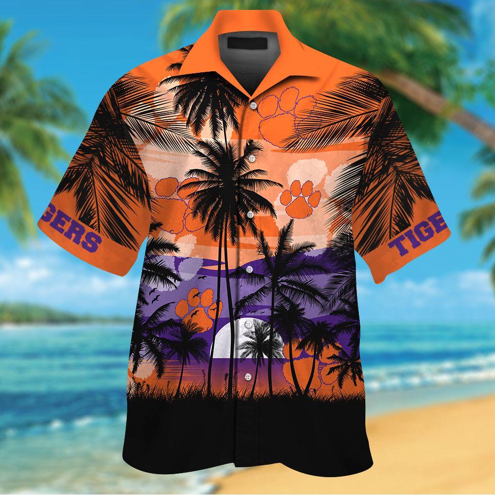 NCAA Clemson Tigers Summer Hawaiian Shirt Men Women Shorts
