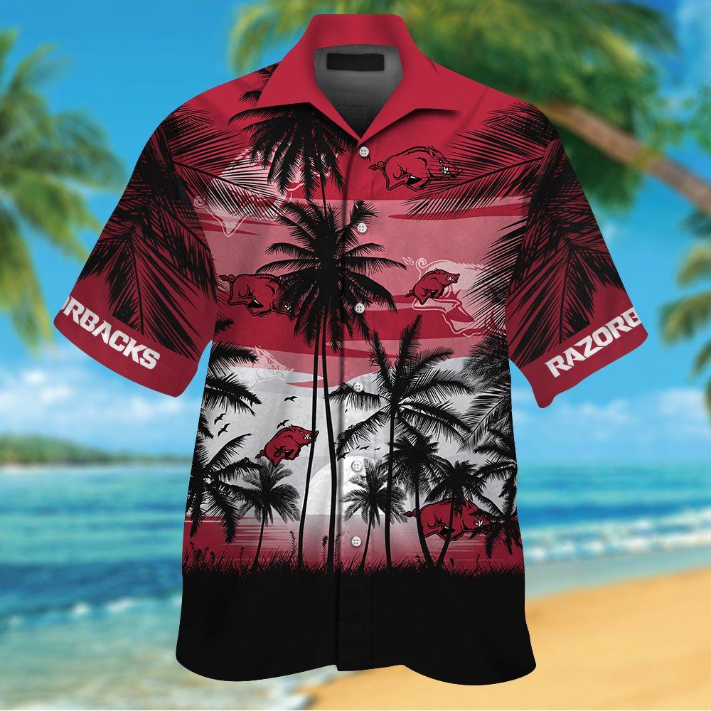 NCAA Arkansas Razorbacks Summer Hawaiian Shirt Men Women Shorts