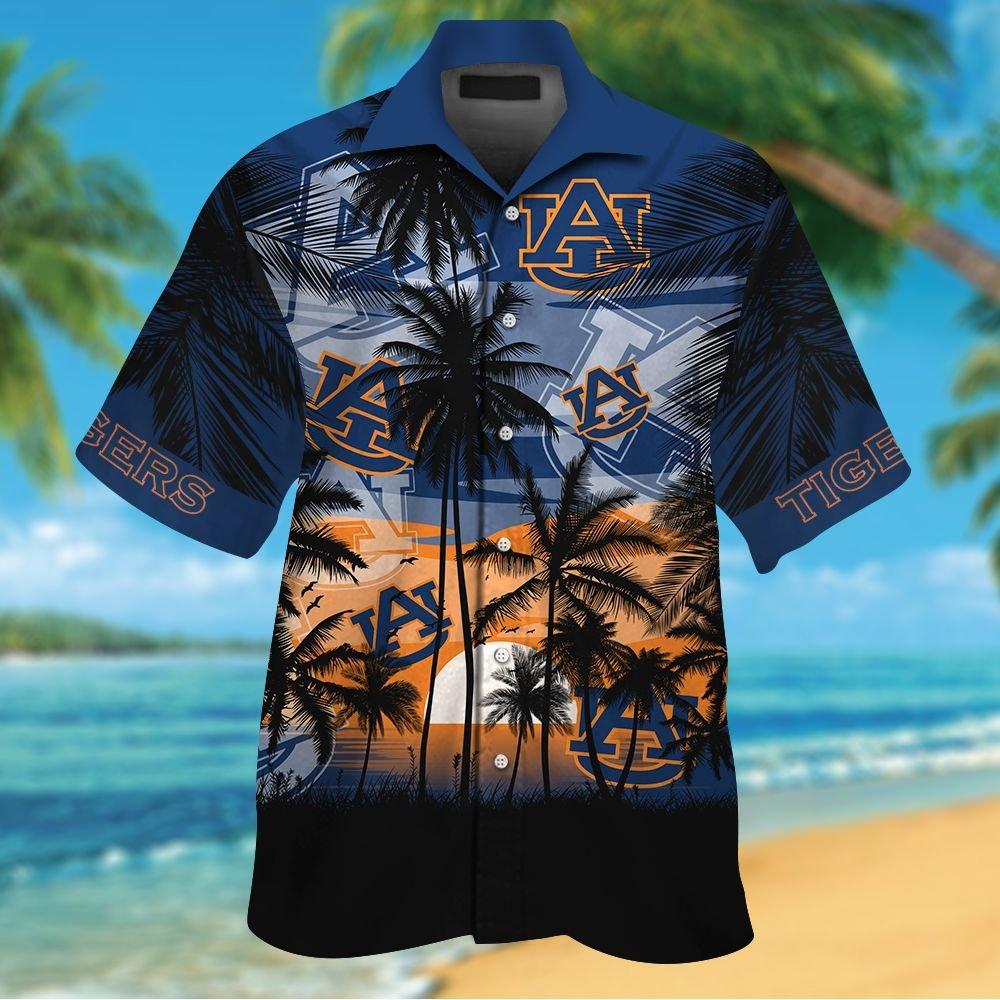 NCAA Auburn Tigers Summer Hawaiian Shirt Men Women Shorts