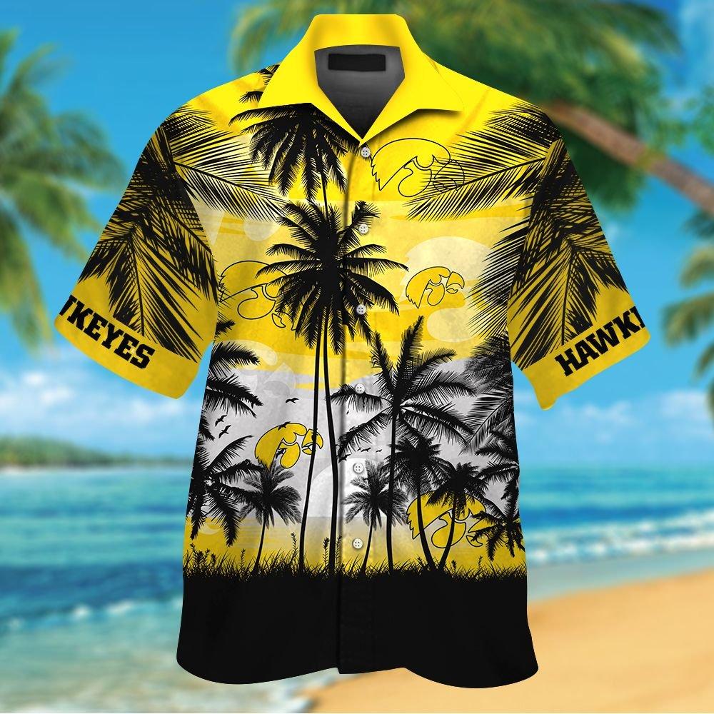 NCAA Iowa Hawkeyes Summer Hawaiian Shirt Men Women Shorts