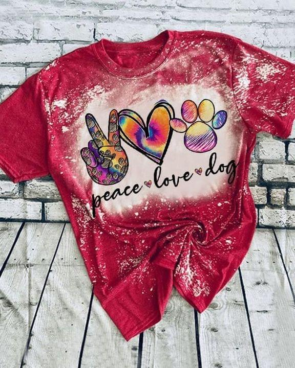 Peace Love Dog 3D All Over Print Shirt