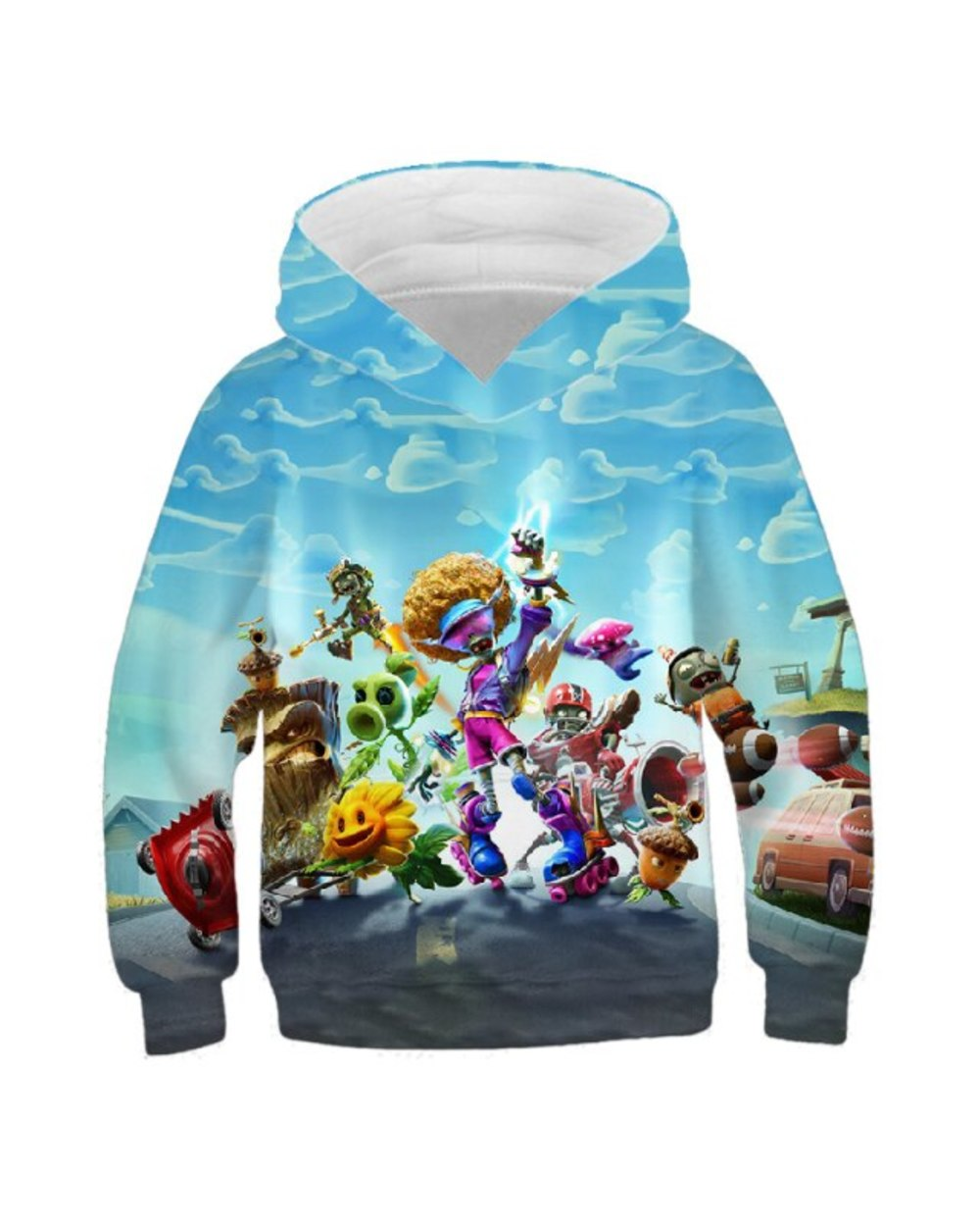 Plant And Zombie 3D Full Print Hoodie For Children 2021 New