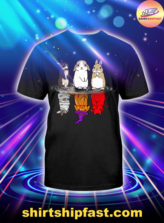 Bunny-halloween-reflection-shirt-1