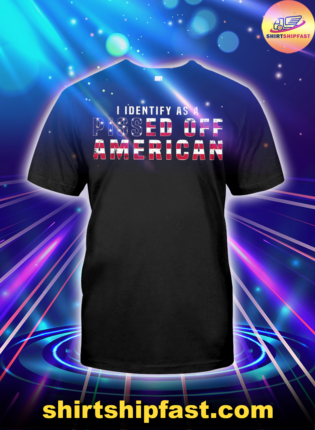 I-identify-as-a-pissed-off-American-US-flag-shirt - 1