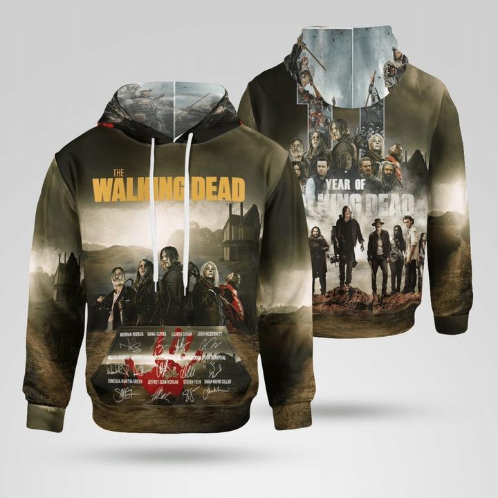 The Walking Dead Signatures 3D Full Print Hoodie