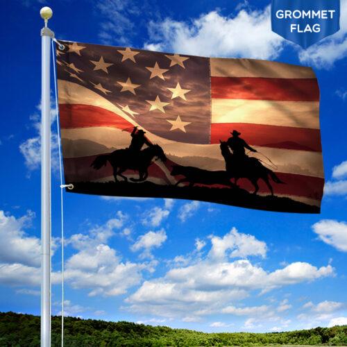 Cowboy American Gormmet Flag