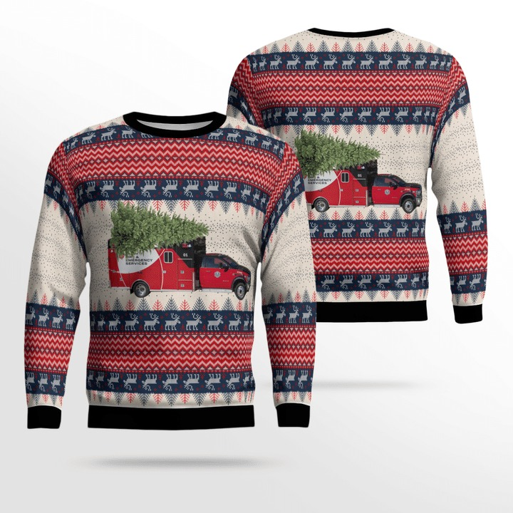 Gwinnett County Fire And Emergency Services Ugly Sweater