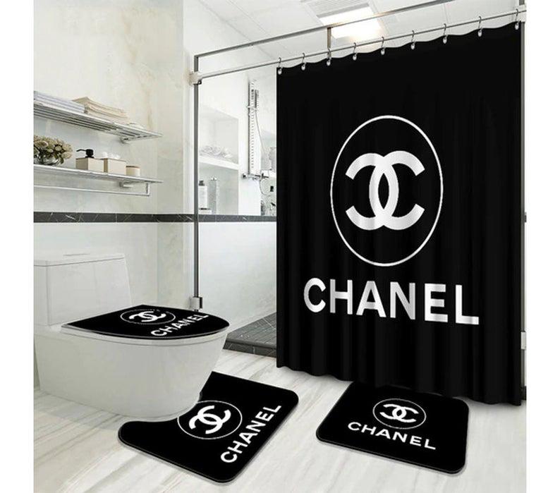 Chanel Original Shower Curtain Waterproof Luxury Bathroom Set 2021