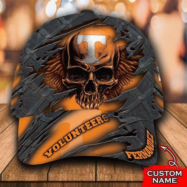 NCAA Tennessee Volunteers 3D Skull Custom Name Classic Cap