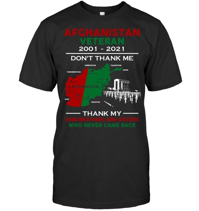 Afghanistan veteran 2001 2021 don't thank me