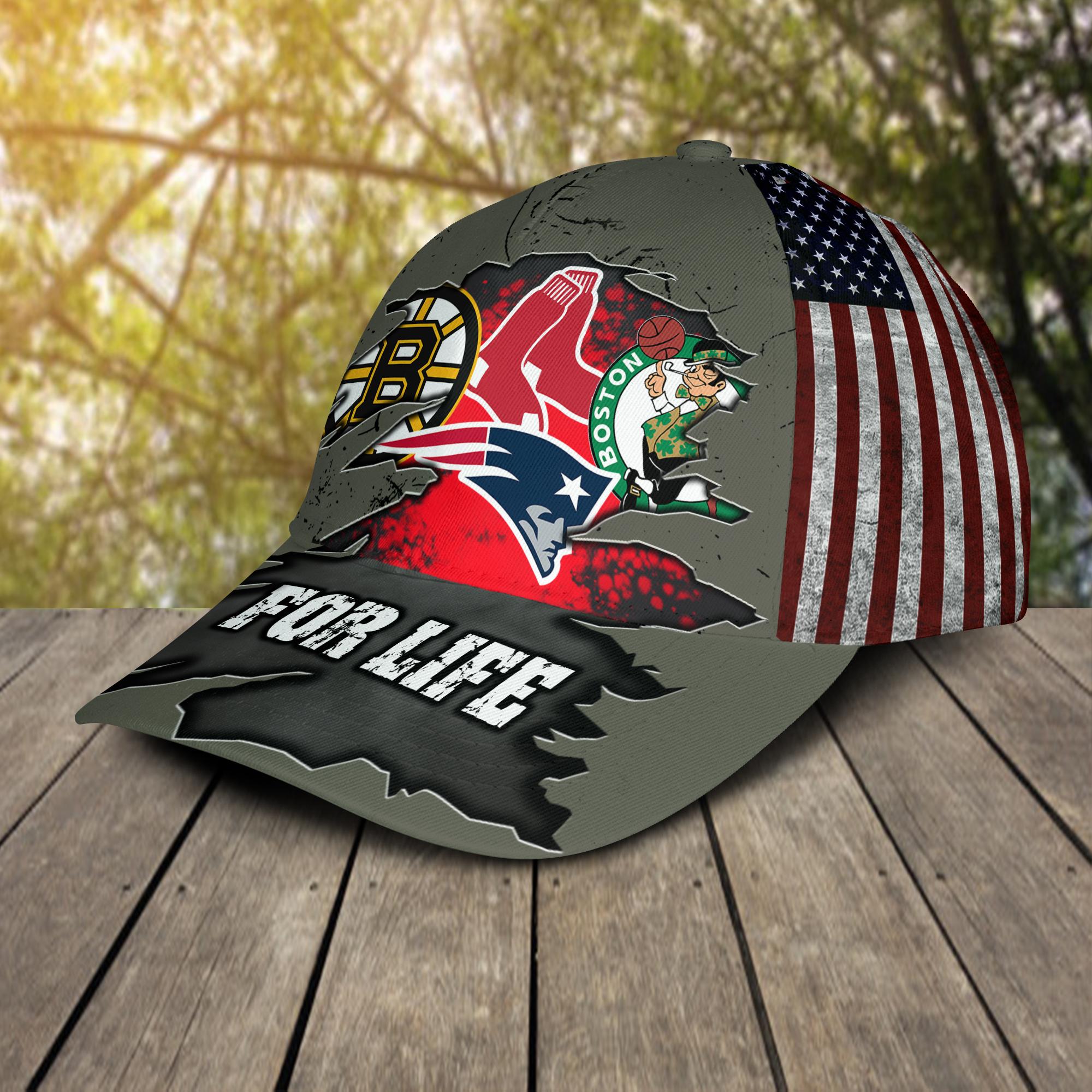 Boston-Celtics-New-England-Patriots-Boston-Bruins-Boston-Red-Sox-For-Life-Cap-Hat-2