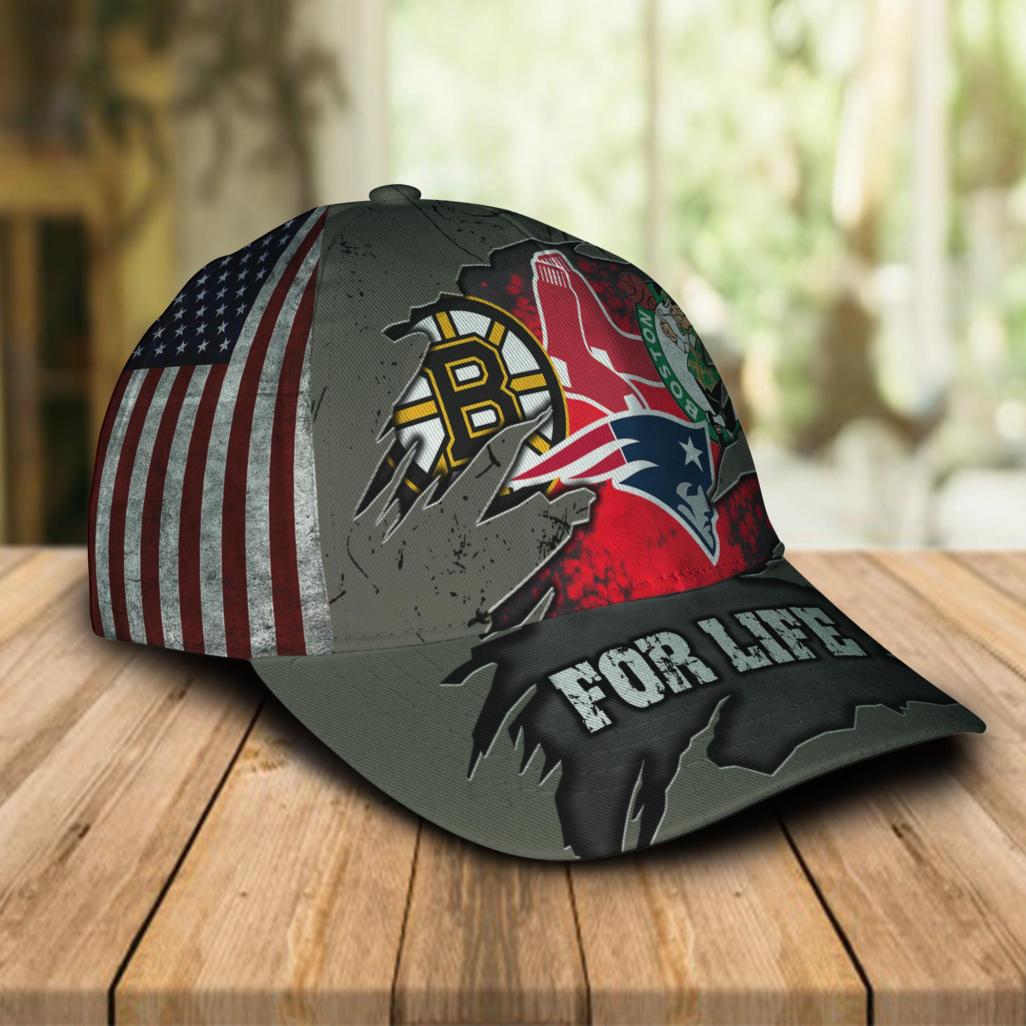 Boston-Celtics-New-England-Patriots-Boston-Bruins-Boston-Red-Sox-For-Life-Cap-Hat1