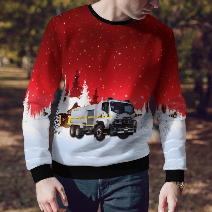 Bush-Fire-Service-Isuzu-12.2-Bulk-Rural-Tanker-Ugly-Christmas-Sweater-1