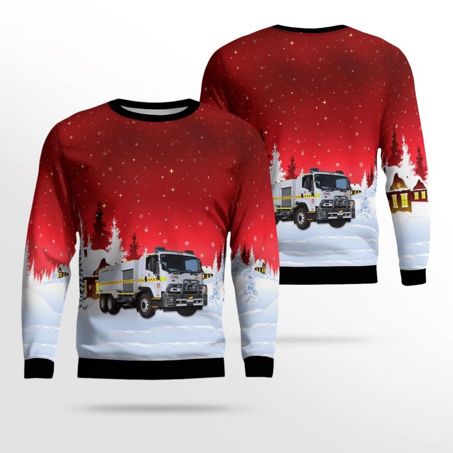 Bush Fire Service Isuzu 12.2 Bulk Rural Tanker Ugly Christmas Sweater