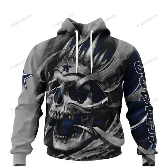 Dallas cowboys skull jersey 3d hoodie