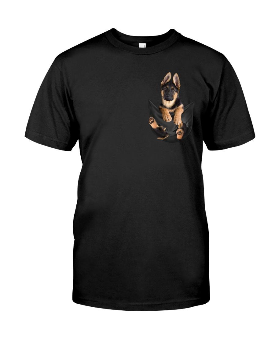 German Shepherd In Pocket Classic T-Shirt