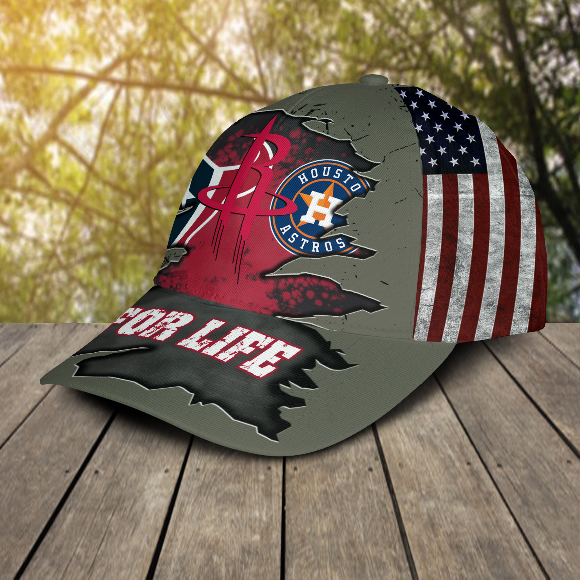 Houston Texans, Houston Astros, Houston Rockets For Life Hat Cap-2