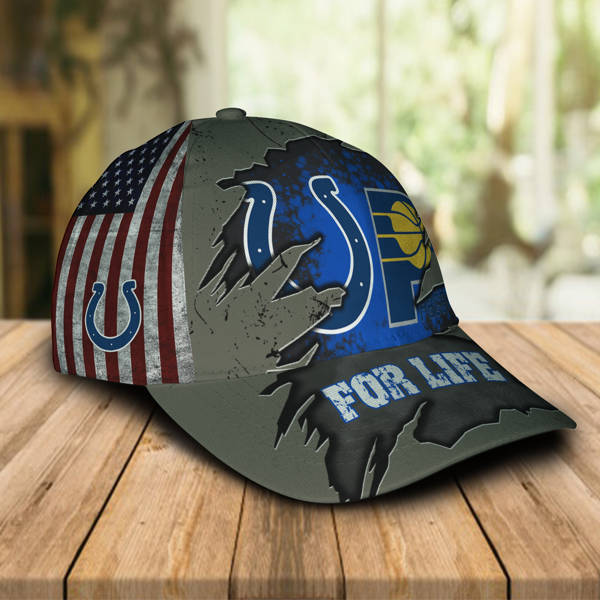 Indianapolis Colts, Indiana Pacers For Life Hat Cap -1