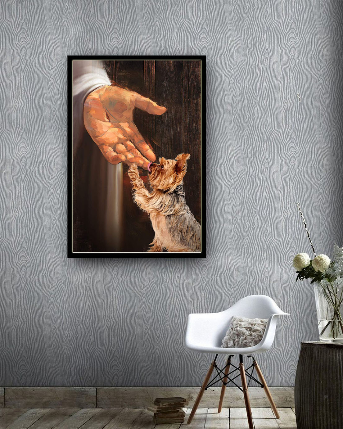 Jesus-Yorkshire-Terrier-in-the-hand-of-god-canvas-print1 -1