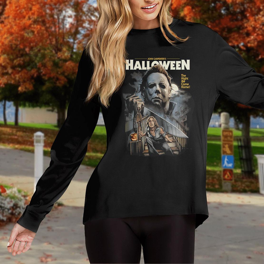 John-Carpenters-halloween-The-night-he-came-home-long-sleeve-tee -1