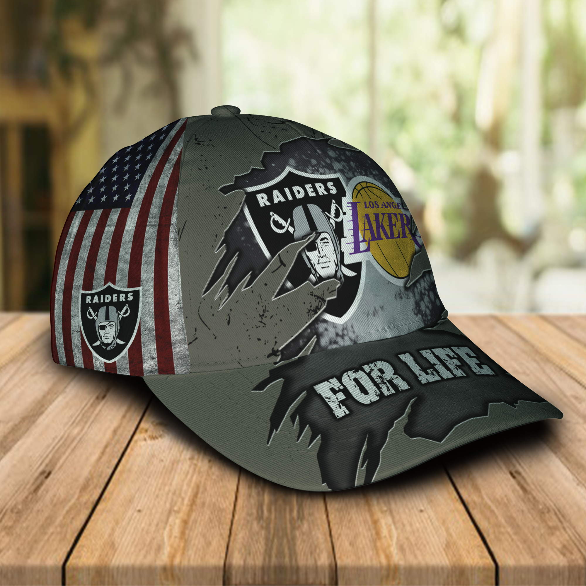 Las Vegas Raiders And Los Angeles Lakers For Life-1
