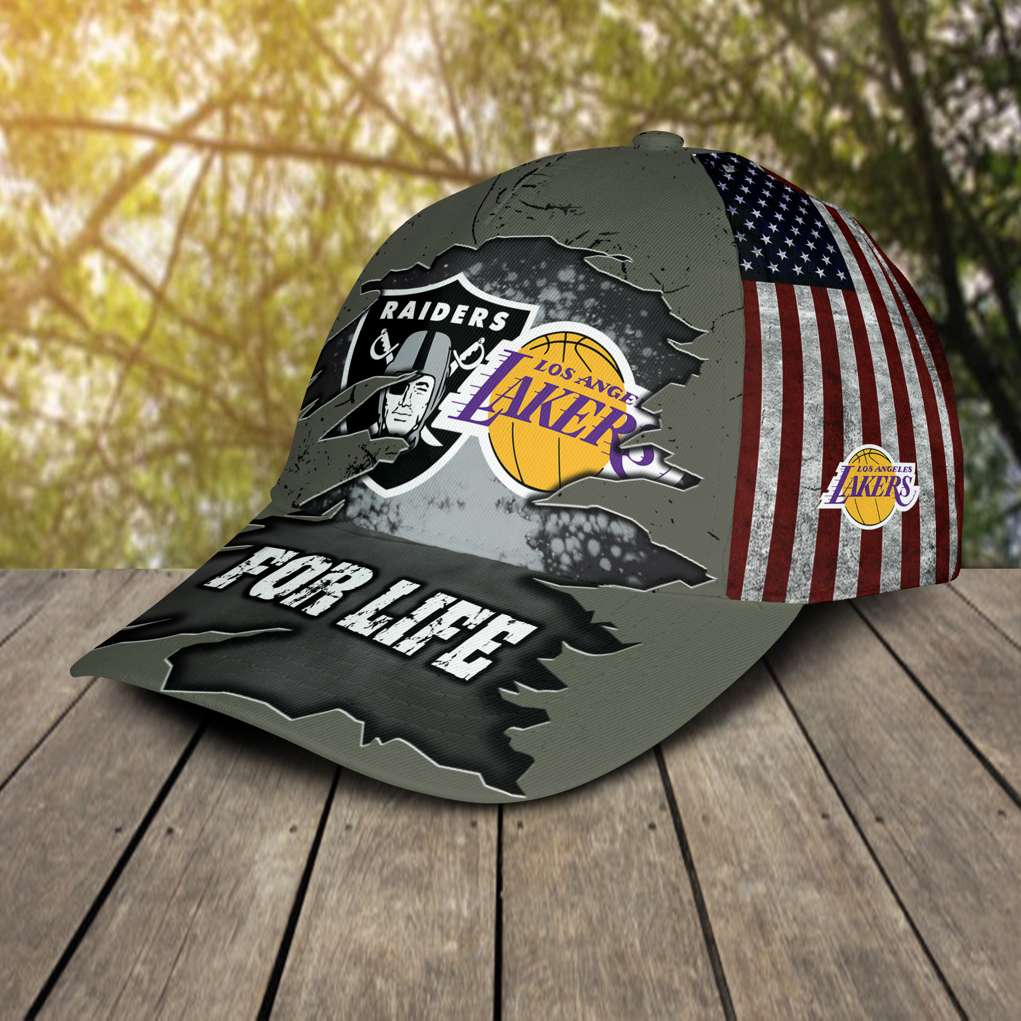 Las Vegas Raiders And Los Angeles Lakers For Life-2
