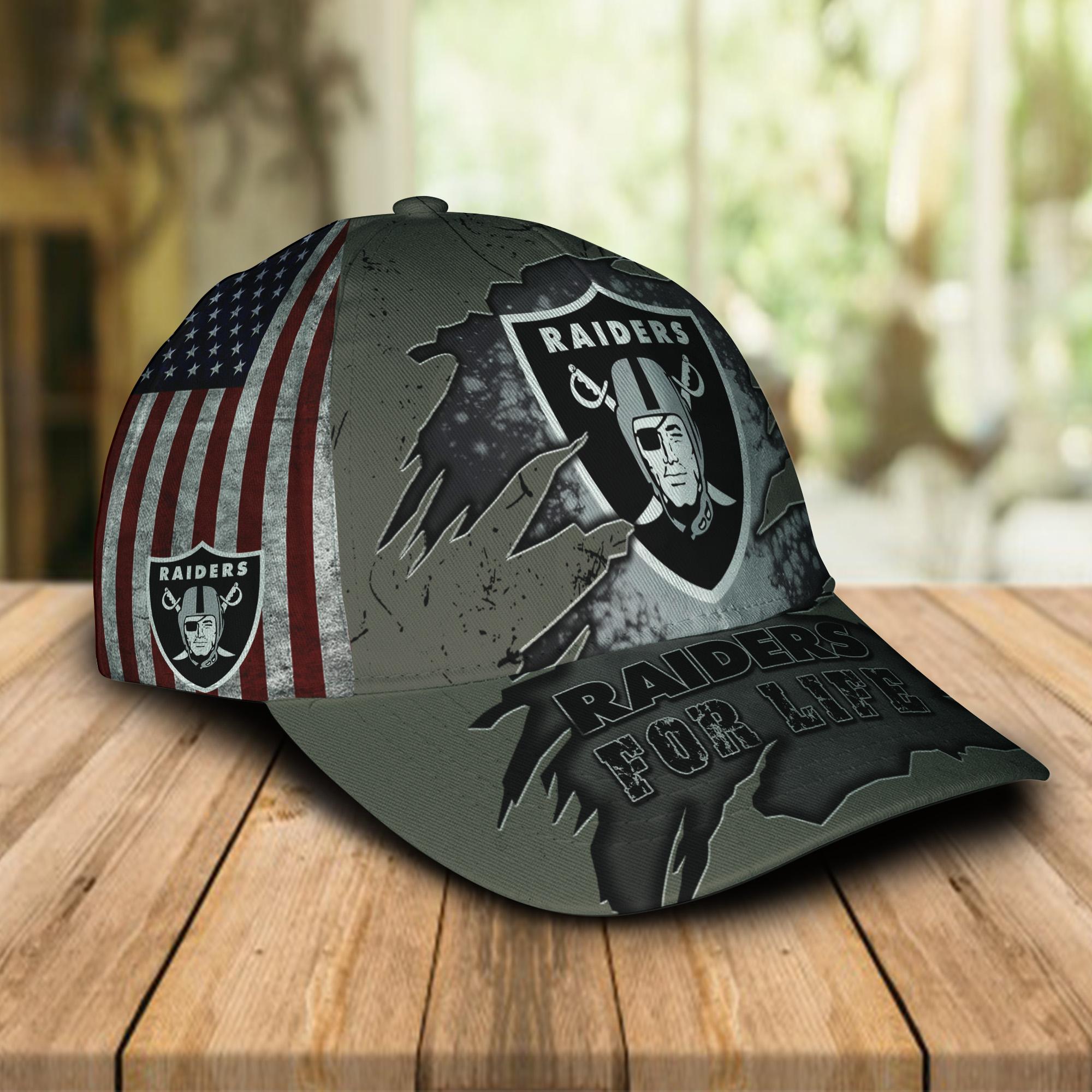 Las Vegas Raiders For Life Cap-1
