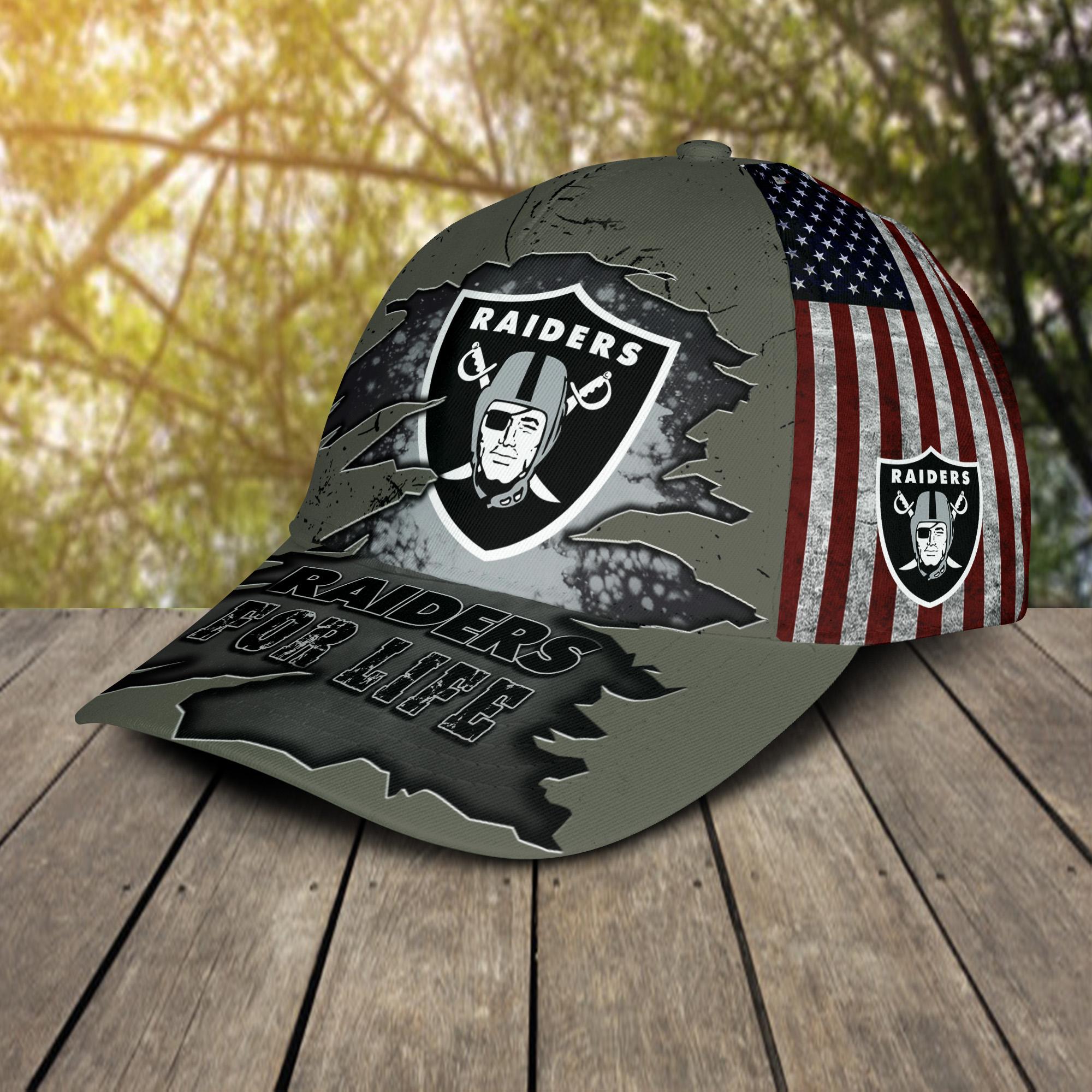Las Vegas Raiders For Life Cap-2