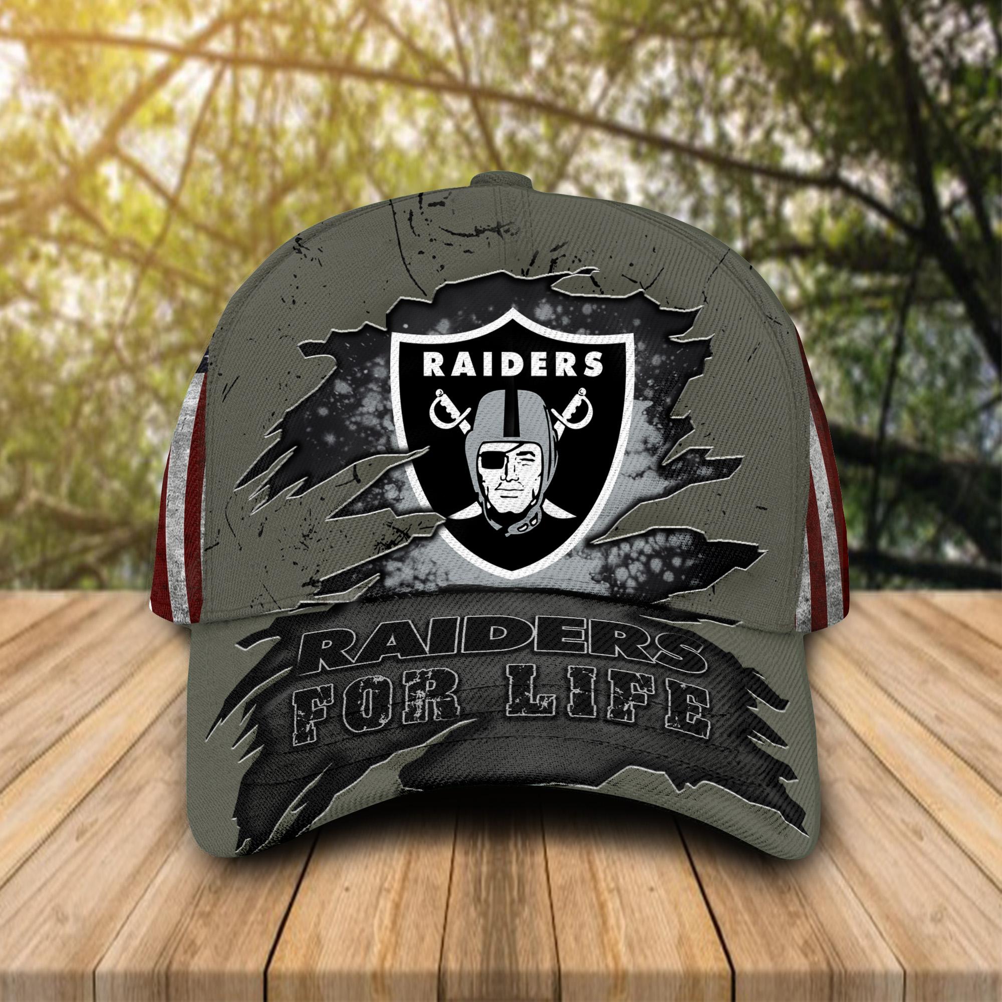 Las Vegas Raiders For Life Cap